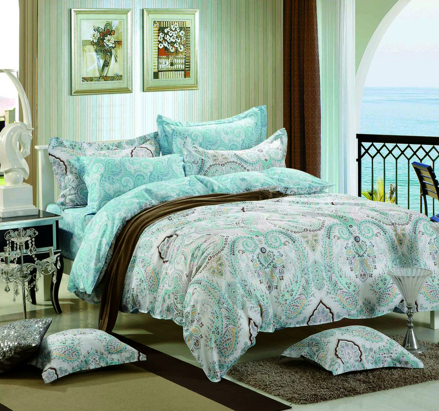 """Комплект белья Tango """"Kerry"""", 1,5-спальный, наволочки 50x70, цвет: голубой"""