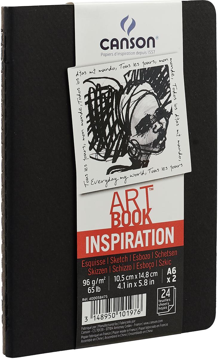Canson Блокнот для зарисовок Art Book А6, цвет в ассортименте, 24 листа 2 шт