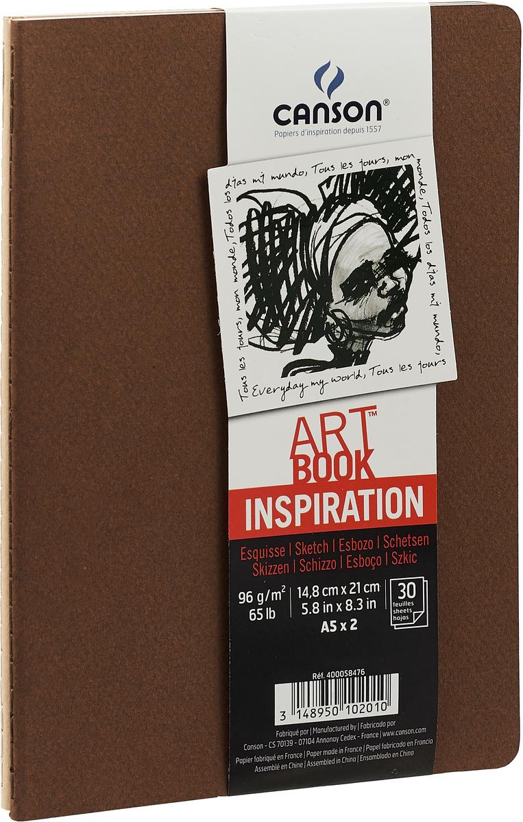 Canson Блокнот для зарисовок Art Book А5, цвет в ассортименте, 30 листов 2 шт