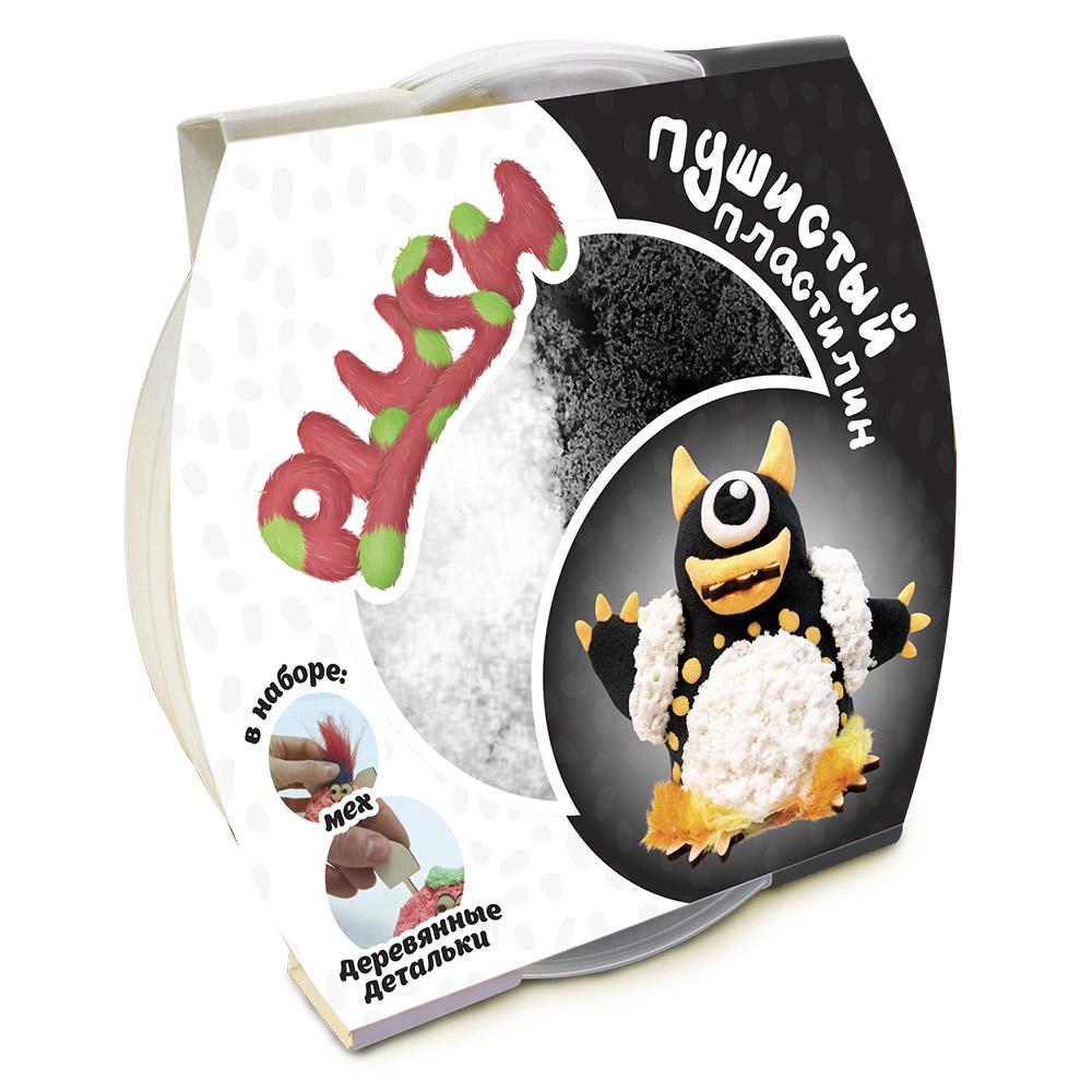 Plush Пушистый пластилин цвет черный белый 160 г