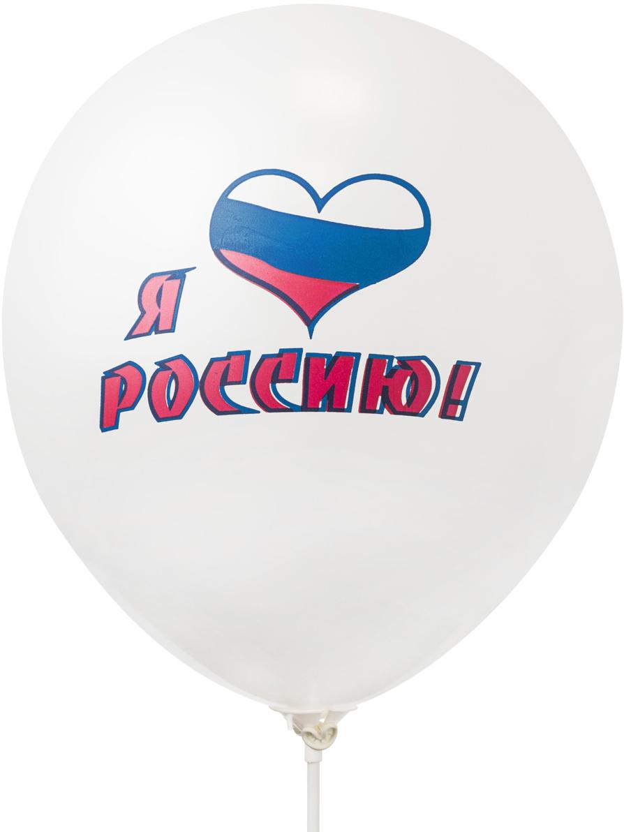 Action! Шары воздушные Я люблю Россию 24 шт