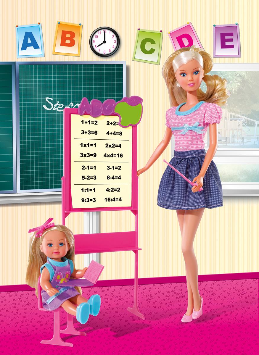 Simba Кукла Штеффи-учитель и Еви-ученица набор кукол simba штеффи и еви принцессы