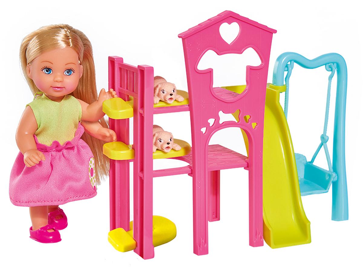 Simba Игровой набор с куклой Еви Игровая площадка для питомцев игровой набор simba еви с братиком с двухъярусной кроваткой 12 см