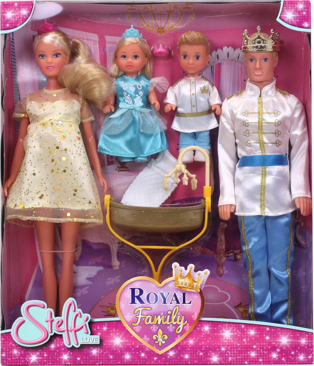 Simba Набор кукол Штеффи Кевин Еви Тимми Королевская семья набор кукол simba штеффи и еви принцессы