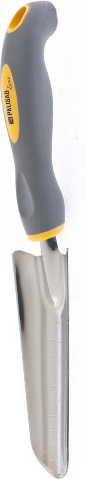 Совок посадочный Palisad, узкий со шкалой, двухкомпонентная рукоятка совок садовый palisad узкий защитное покрытие пластиковая рукоятка