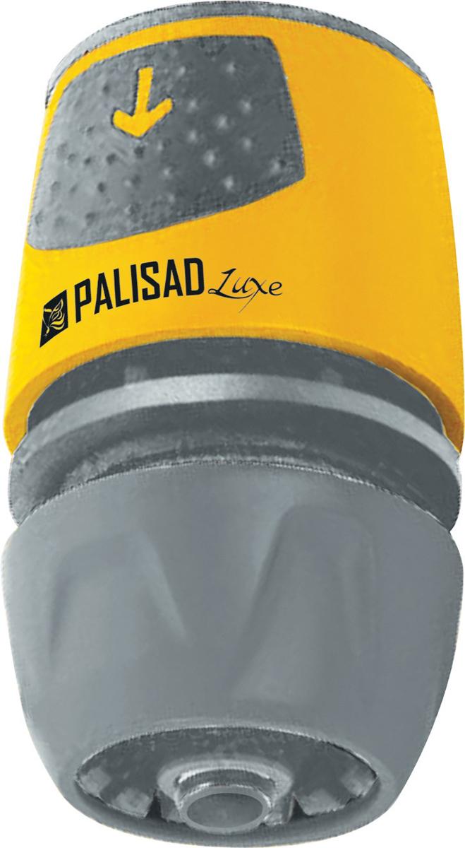 Соединитель садовый Palisad, быстросъемный для шланга 1/2-3/4, АВС-пластик соединитель садовый palisad пластмассовый быстросъемный для шланга 1 2 аквастоп