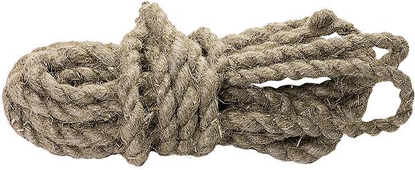 Веревка льнопеньковая Сибртех, крученая, диаметр 10 мм, длина 10 м цена