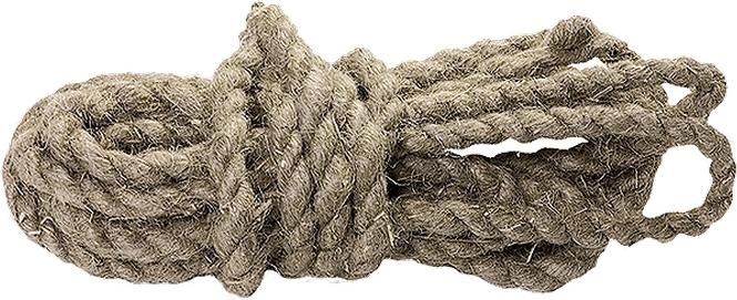 Веревка льнопеньковая Сибртех, D 12 мм, L 10 м, крученая цена