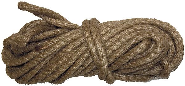 Веревка джутовая Сибртех, крученая, диаметр 8 мм, длина 10 м цена