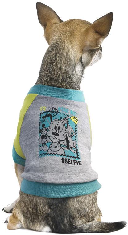 Футболка для собак TriolDisney Pluto, цвет: светло-серый. Размер XS футболка женская mustang цвет светло серый 1005500 4141 размер xs 40