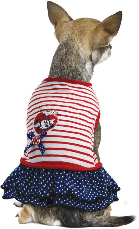 """Платье для собак TriolDisney """"Minnie Smart"""", цвет: белый, красный, черный. Размер M"""