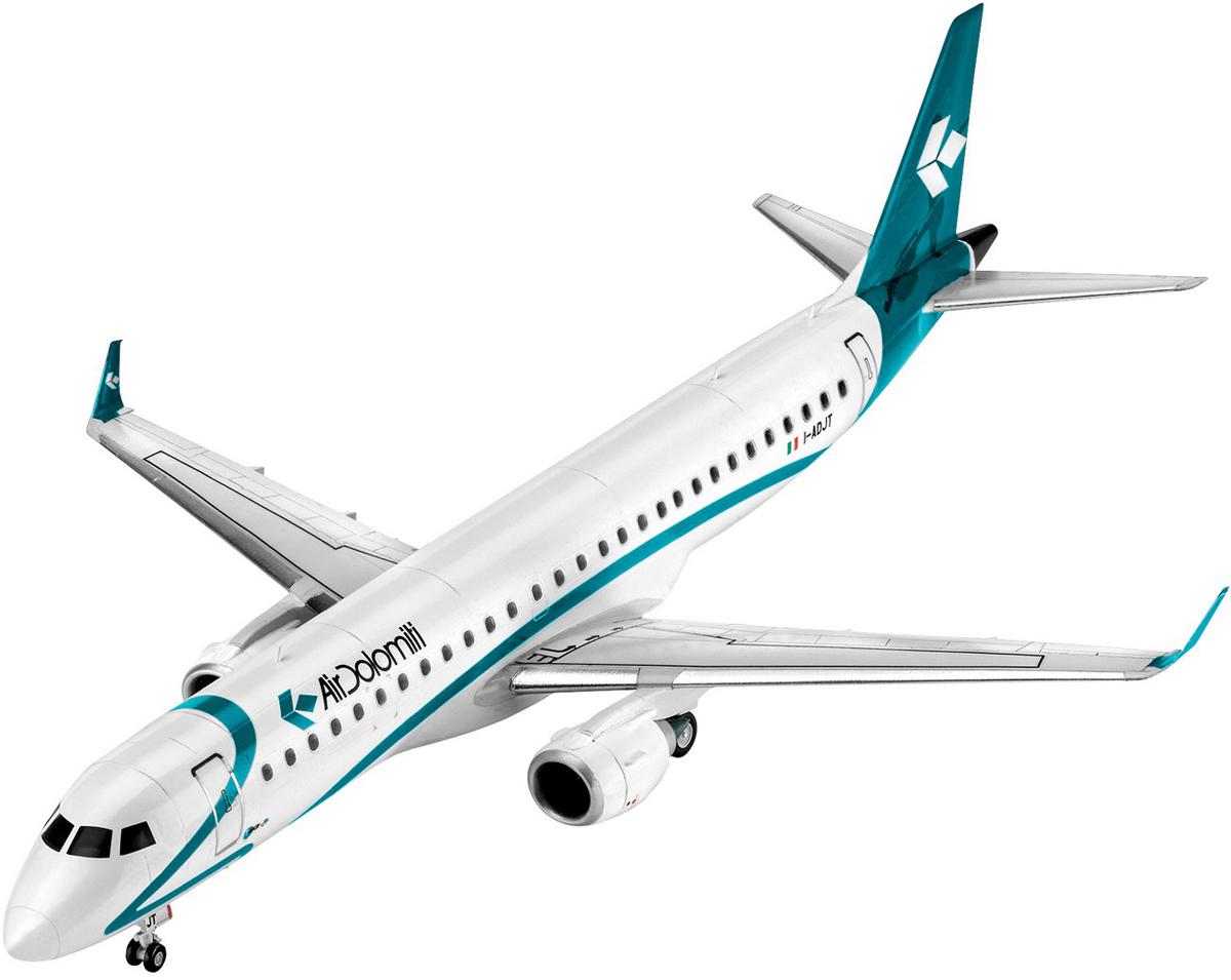Revell Модель для сборки Сборная модель Пассажирский самолет Embraer 195 1:144 стоимость