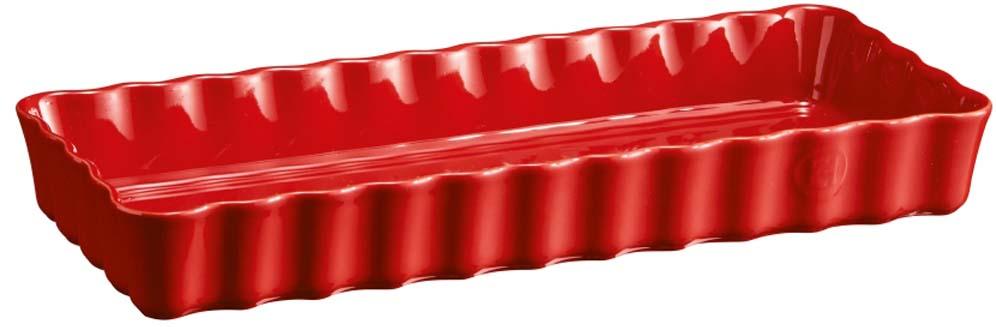 Форма для выпечки Emile Henry, цвет: гранат, 15 х 36 см emile henry форма для тарта круглая 26 см гранат 346080 emile henry