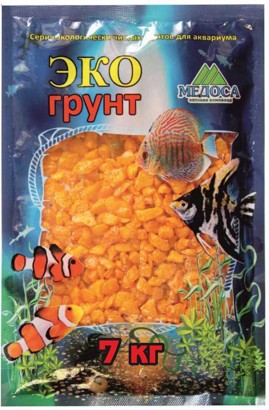 Грунт для аквариума ЭКОгрунт, мраморная крошка, блестящая, цвет: желтый, 5-10 мм, 7 кг грунт для аквариума экогрунт мраморная крошка блестящая цвет синяя 2 5 мм 7 кг
