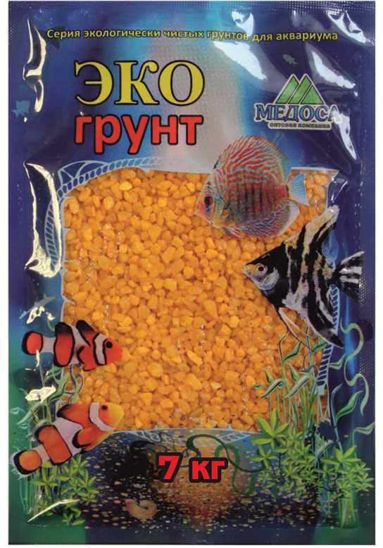 Грунт для аквариума ЭКОгрунт, мраморная крошка, блестящая, цвет: желтый 2-5 мм, 7 кг7-1046Грунт «Эко Грунт» представлен в качественной евроупаковке. Технологии производства включают и добычу камня, его калибровку по фракциям, мойку, сушку и термическую обработку. Грунт полностью готов для прямого использования как в морских, так и пресноводных аквариумах и полностью безопасен для рыб и рептилий.