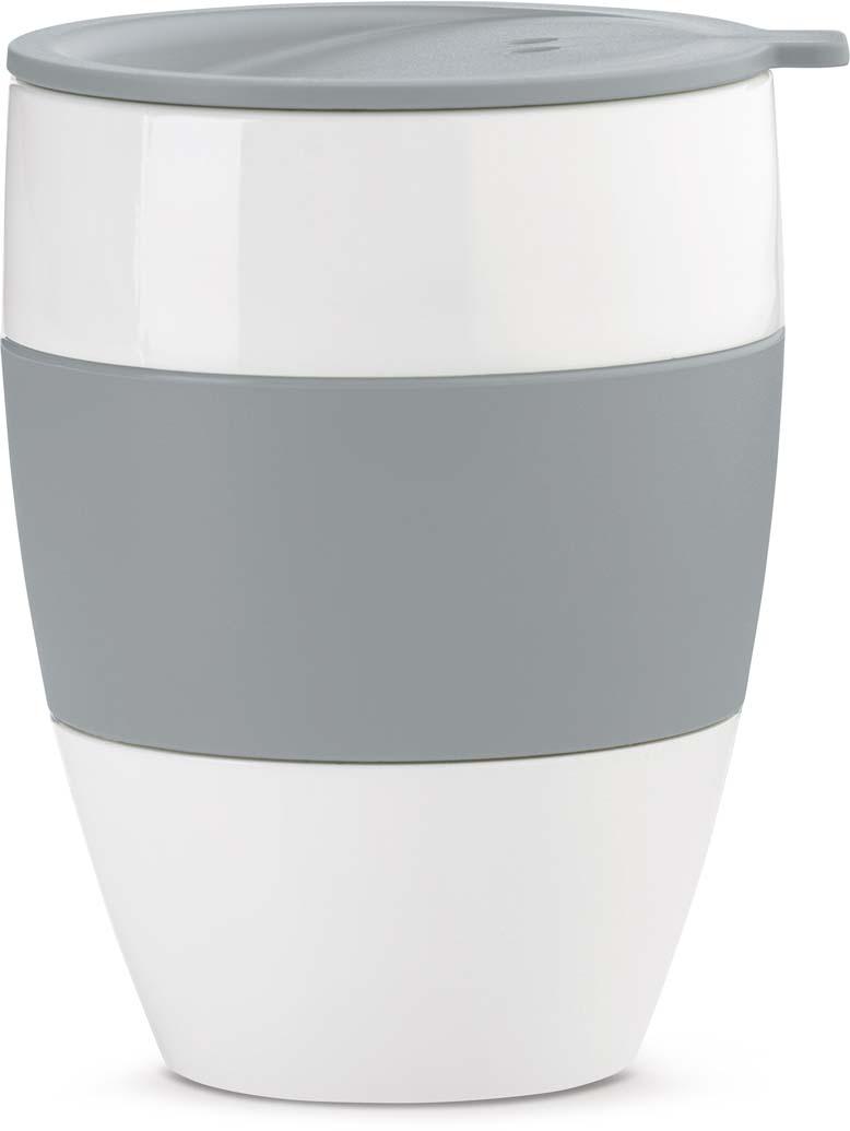 Термокружка Koziol Aroma To Go 2.0, цвет: серый, 400 мл термокружка 400 мл zelda