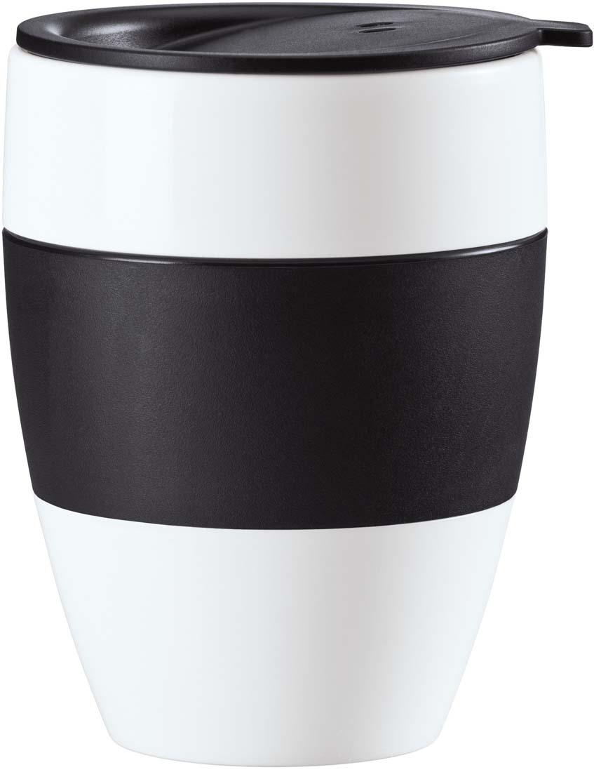 Термокружка Koziol Aroma To Go 2.0, цвет: черный, белый, 400 мл