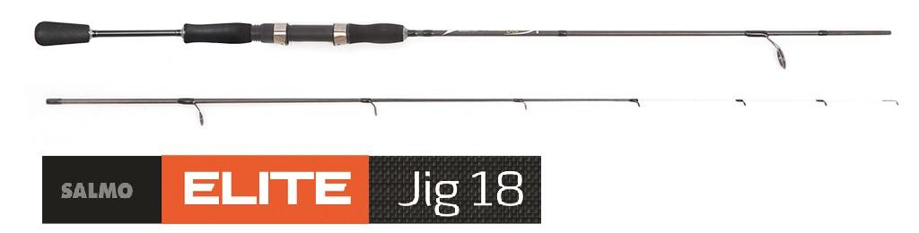 "Удилище спиннинговое Salmo ""Elite JIG"", штекерное, 5-18 г, 2,32 м"