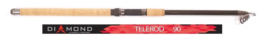 Удилище поплавочное Salmo Diamond TELEROD, телескопическое, с кольцами, 90 г, 3,3 м удилище телескопическое salmo supreme mini telerod с кольцами 3 5м