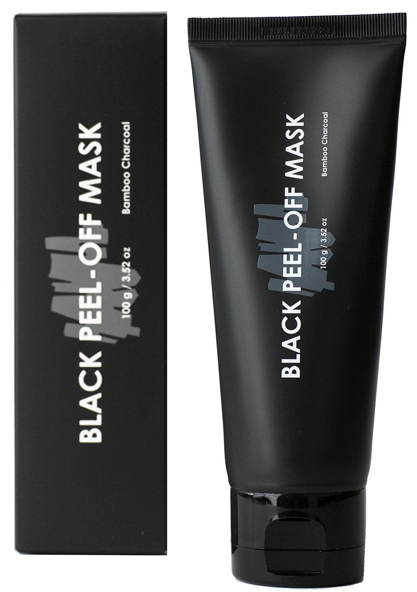 Acaci Очищающая черная маска-пленка для лица с бамбуковым углем, 100 мл маска пленка косметическая farmstay с углем 100 мл