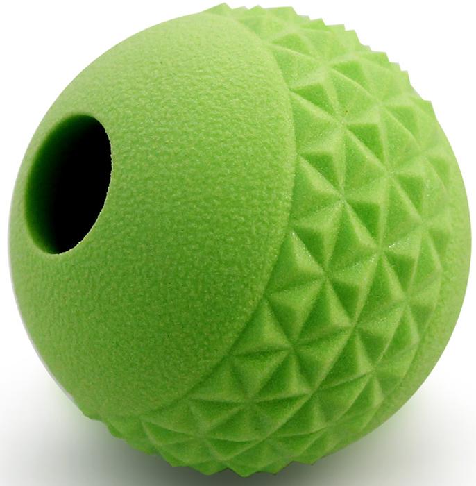 """Игрушка для собак Triol """"Мяч"""", цвет: зеленый, диаметр 6,4 см"""