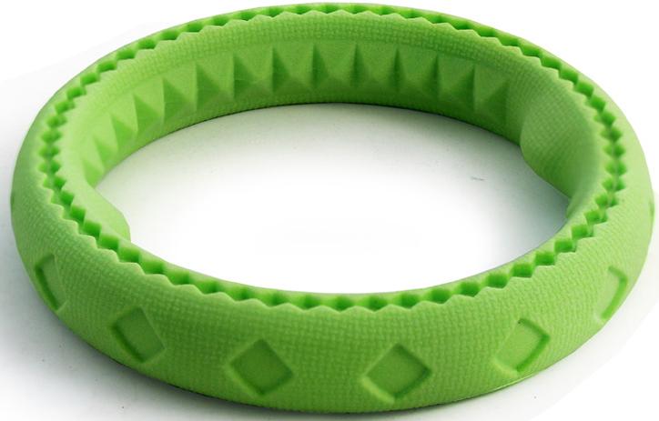 """Игрушка для собак Triol """"Кольцо"""", цвет: зеленый, диаметр 11 см"""
