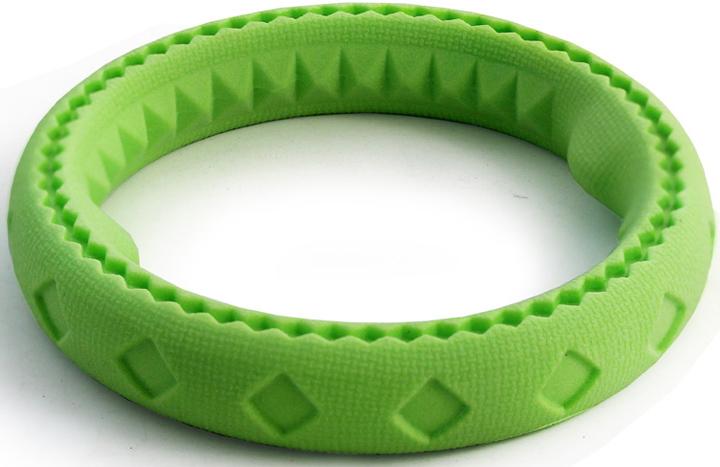 """Игрушка для собак Triol """"Кольцо"""", цвет: зеленый, диаметр 17 см"""