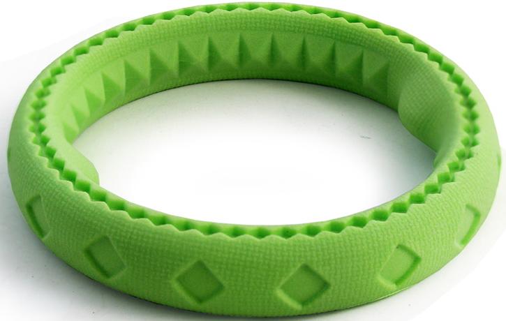 """Игрушка для собак Triol """"Кольцо"""", цвет: зеленый, диаметр 24 см"""