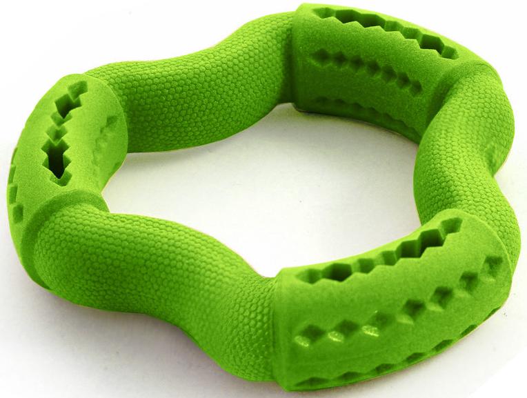 """Игрушка для собак Triol """"Гексагон"""", цвет: зеленый, диаметр 14,9 см"""