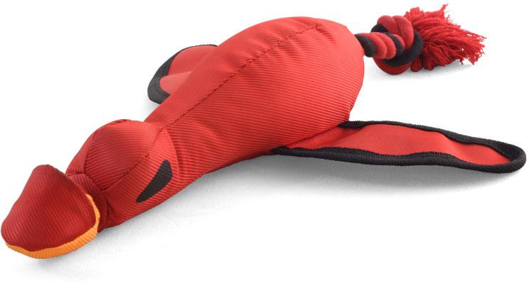 Игрушка для собак Triol Утка-катапульта, 29 х 40 см12141092Метательная игрушка для собак Triol Утка-катапульта отлично подойдет для игр на открытом воздухе. Натянув резиновый жгут за кармашек на клюве, ее можно запустить в полет и обучить собаку приносить ее обратно. Игры с питомцем помогут поддержать его в отличной форме.