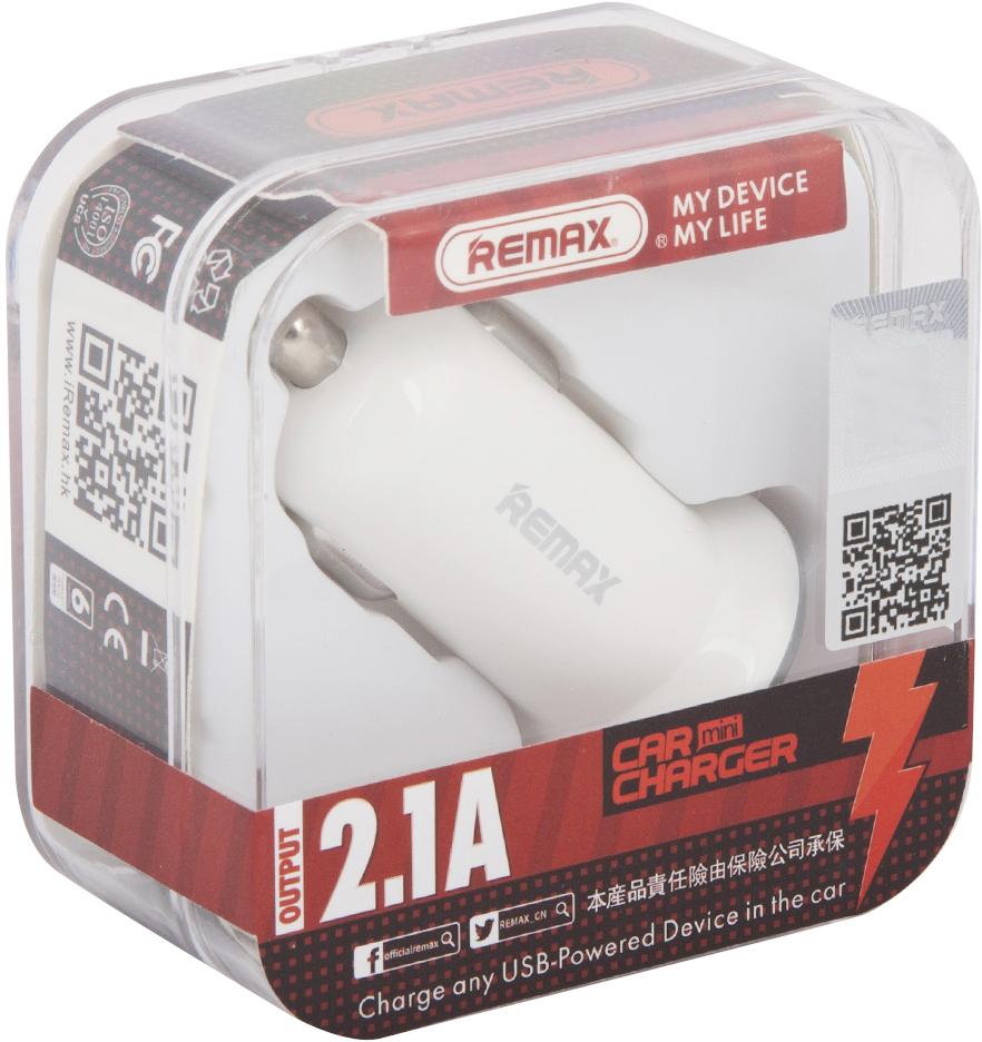 REMAX Mini Car Charger RCC201 Mini, White автомобильное зарядное устройство вентилятор от usb remax f14 folded mini fan pink