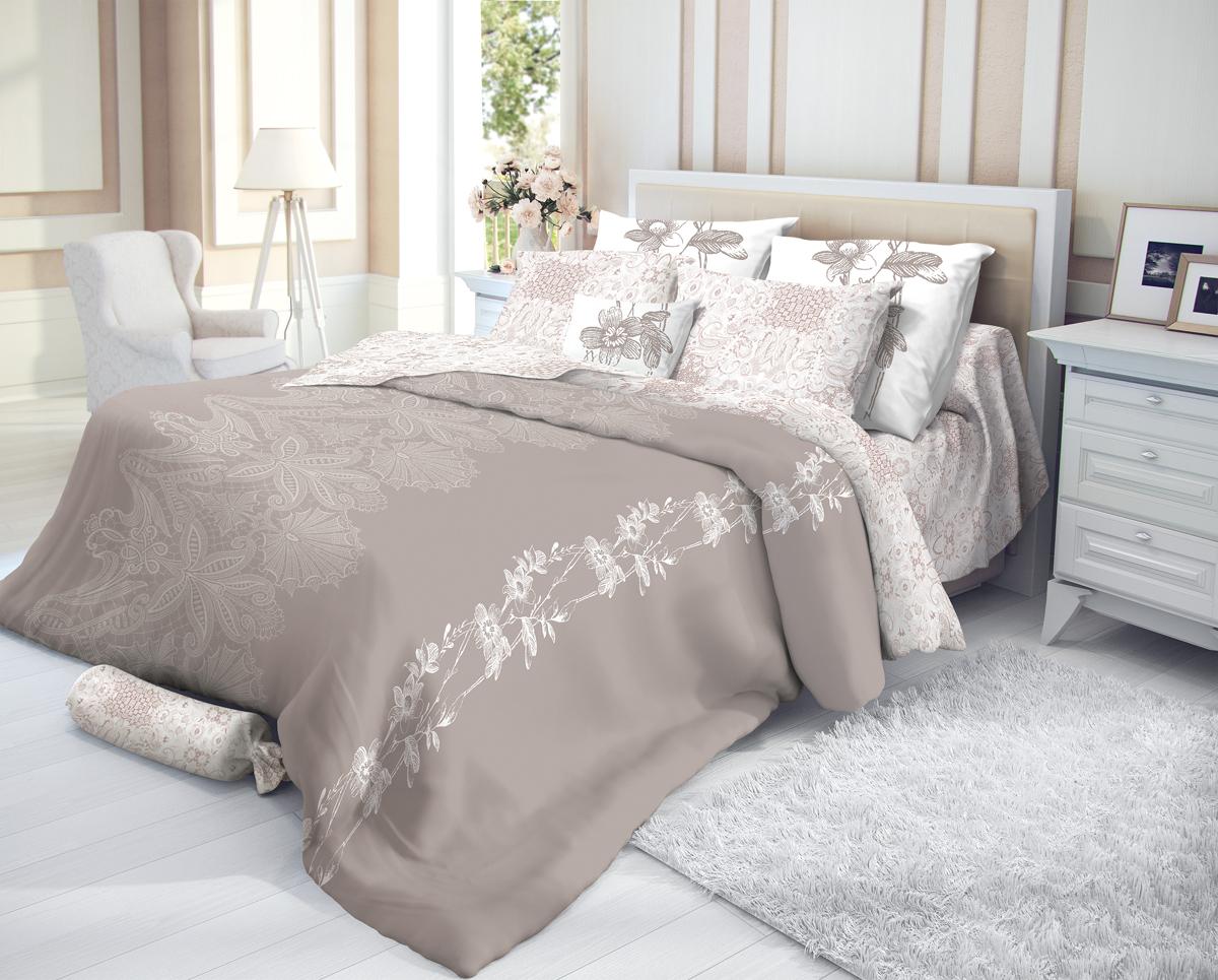 """Комплект белья Verossa """"Shantale"""", 1,5-спальный, наволочки 70х70, цвет: бежевый"""