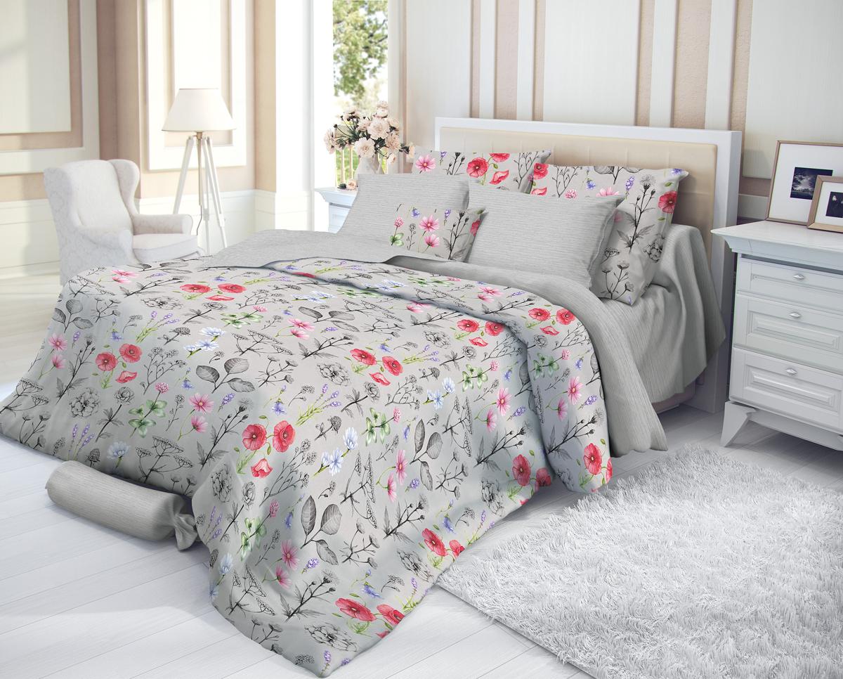 """Комплект белья Verossa """"Impress"""", 1,5-спальный, наволочки 70х70, цвет: серый"""