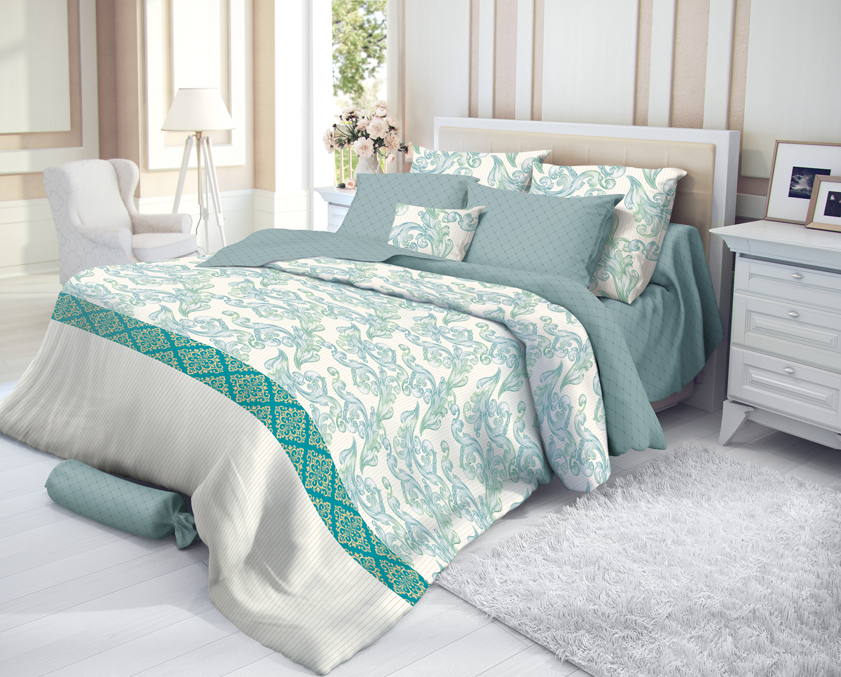 """Комплект белья Verossa """"Azure"""", 1,5-спальный, наволочки 50х70, цвет: белый"""