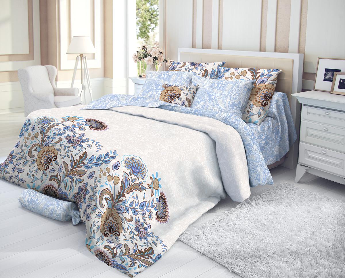 """Комплект белья Verossa """"Ivy"""", 1,5-спальный, наволочки 50х70, цвет: белый"""