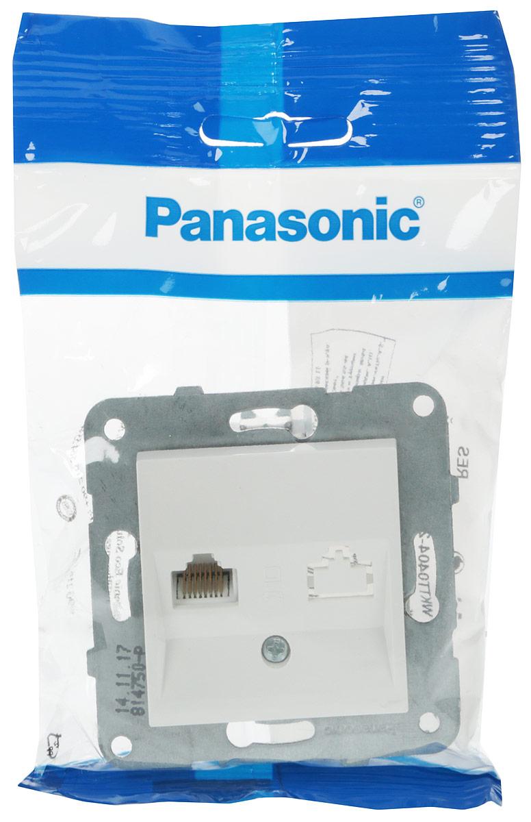 Розетка компьютерная Panasonic Karre Plus, RJ45, категория 5Е, цвет: белый. 54906