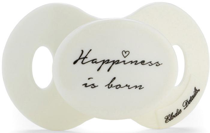 Elodie Details Пустышка силиконовая Newborn Happiness is Born от 0 до 6 месяцев