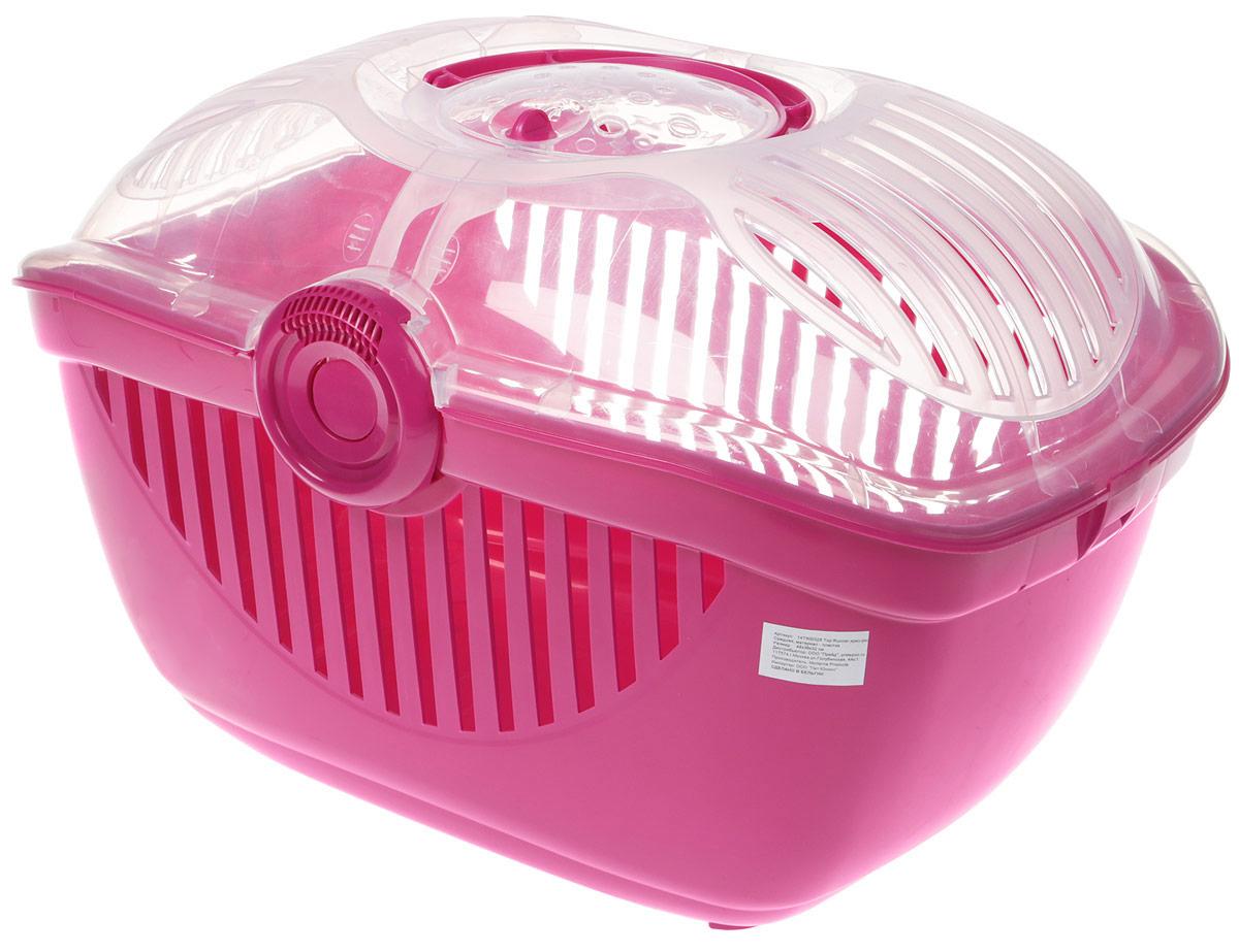 Переноска для животных Moderna Top Runner, цвет: ярко-розовый, 48 x 36 x 32 см миска для животных moderna trendy dinner люксори пет 27 x 16 5 x 6 см