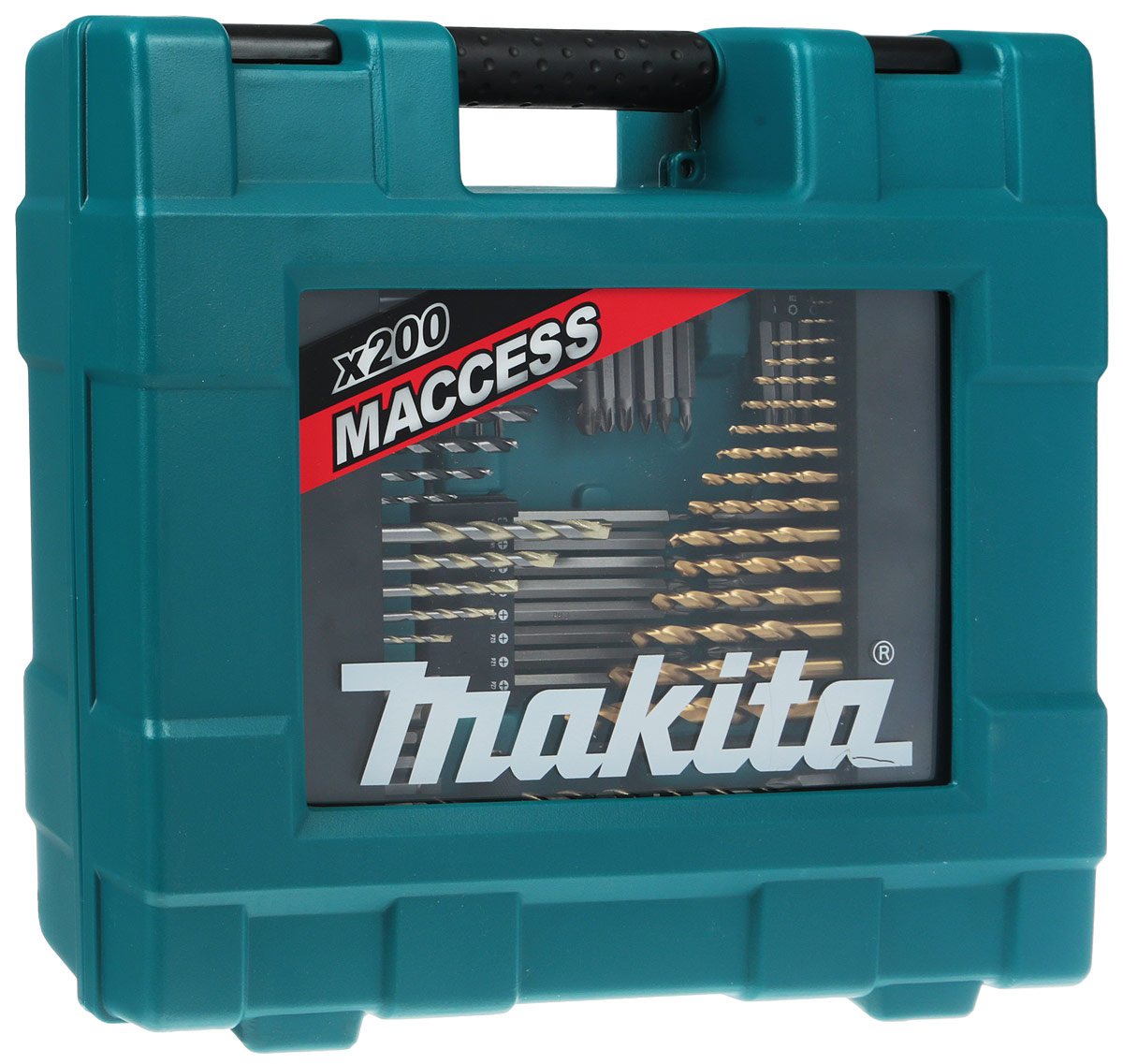 Набор оснастки Makita, 200 предметов singfire sf 914 3 led 1800lm 5 mode white diving flashlight torch black 2 x 26650