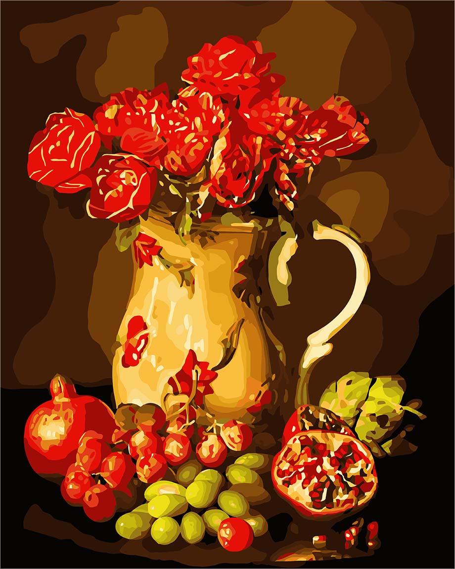 Открытка ваза с фруктами, открытки презентация