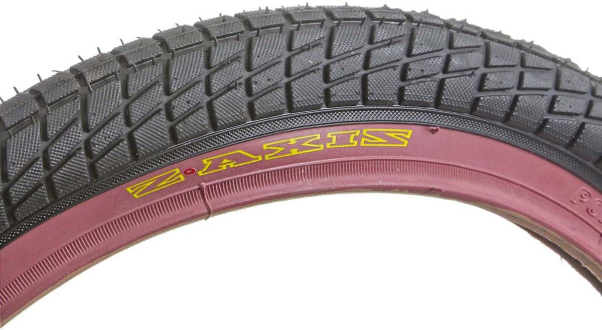 Покрышка велосипедная 20 с розовой полосой