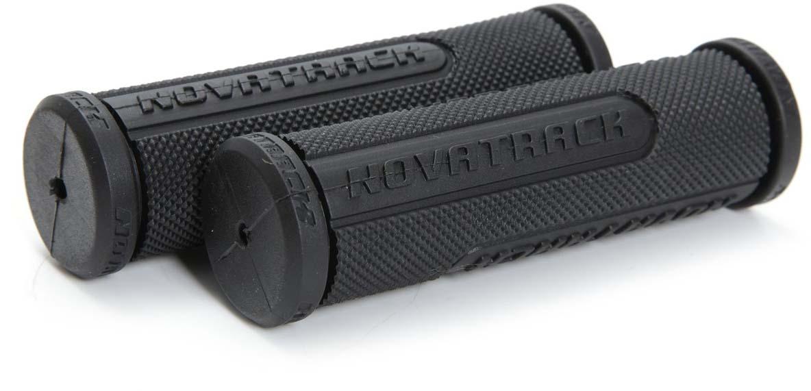 """Грипсы """"Novatrack"""", цвет: черный, 110 мм, 2 шт"""