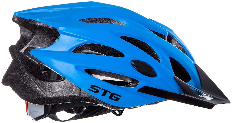 Шлем STG MV29-A, цвет: синий. Размер M (55-58 см) велошлем giro foray m 55 59см mat wht slv матовый белый с серым gi7053271