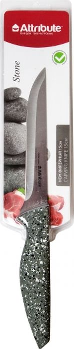 Нож филейный Attribute Knife Stone, длина лезвия 15 см нож филейный attribute knife country длина лезвия 15 см