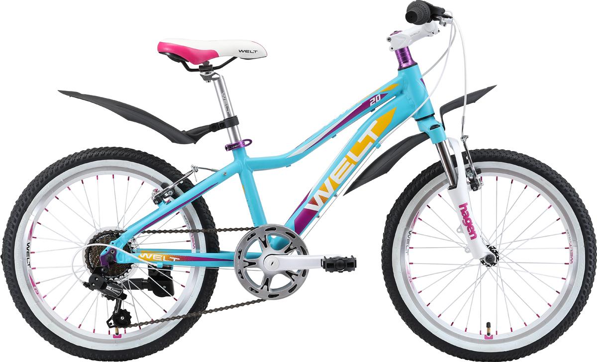 """Велосипед детский Welt """"2018 Edelweiss"""", цвет: белый, фиолетовый, синий, колесо 20"""""""