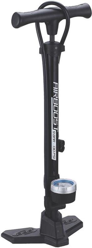 Насос напольный BBB AirBoost Steel Pump, цвет: серый голова для насоса bbb dualhead 2 0 цвет черный