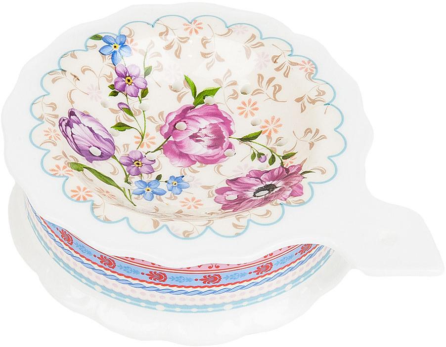 Подставка под чайный пакетик Nouvelle De France Разноцветные тюльпаны, 13 х 10 х 3,5 см nouvelle кружка разноцветные тюльпаны 360 мл
