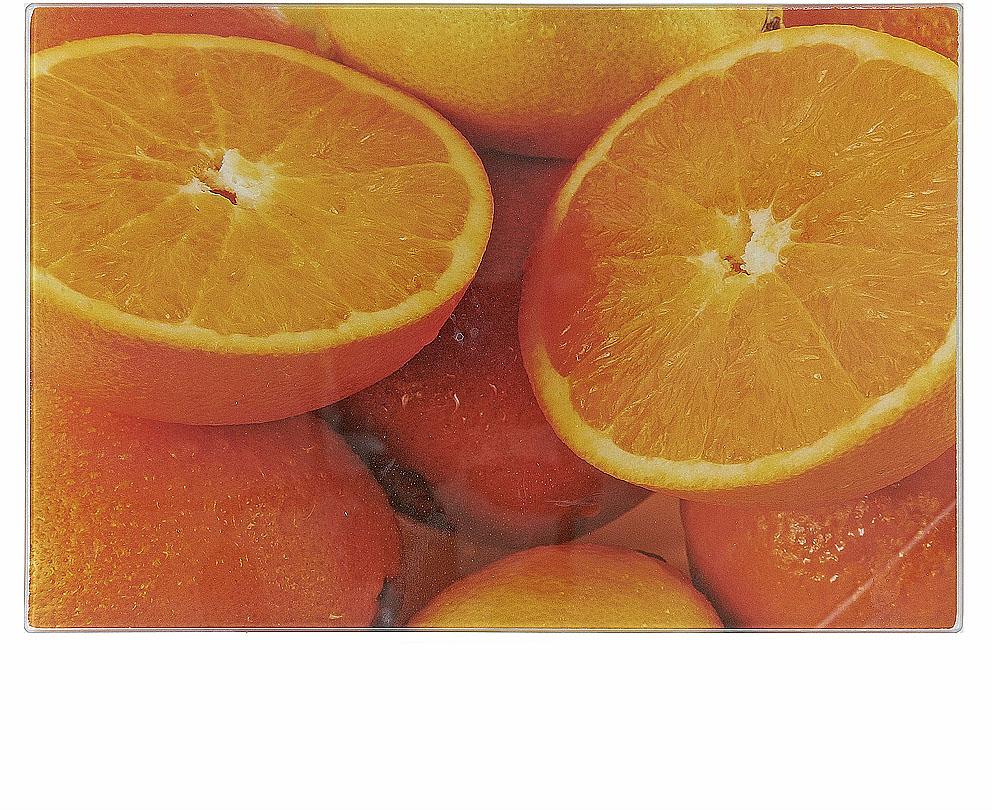Доска разделочная Best Home Kitchen Апельсин, стеклянная, 20 х 30 х 0,5 см доска разделочная martika цвет зеленый 32 х 20 х 2 см 3 шт