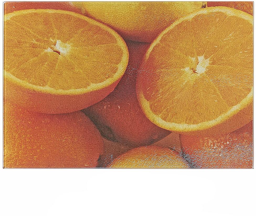 Доска разделочная Best Home Kitchen Апельсин, стеклянная, рифленая, 20 х 30 х 0,5 см доска разделочная martika цвет зеленый 32 х 20 х 2 см 3 шт