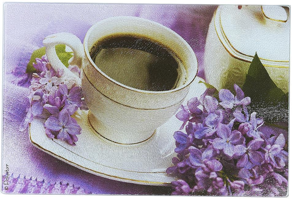 Доска разделочная Best Home Kitchen Утренний кофе, стеклянная, рифленая, 20 х 30 х 0,5 см rivapower va4122 w00 white сетевое зарядное устройство